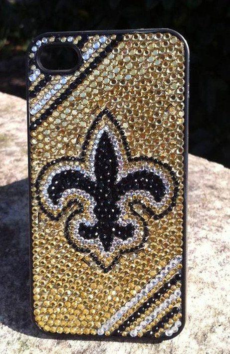 New Orleans Saints Rhinestone Phone Case by PhoneDazzle on Etsy