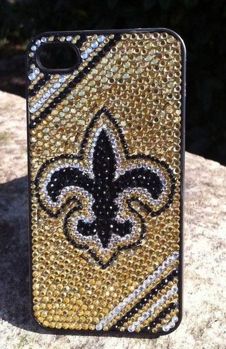 New Orleans Saints iPhone Case Rhinestone by winedazzle on Etsy, $45.00