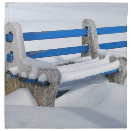 Snow Bench Cloth Napkin - winter gifts style special unique gift ideas