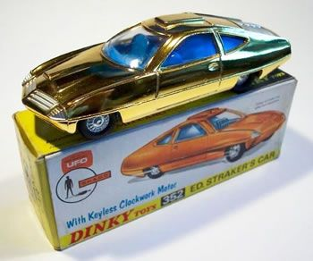 Dinky - Ed Straker's car - original wheels - they match the box illustration