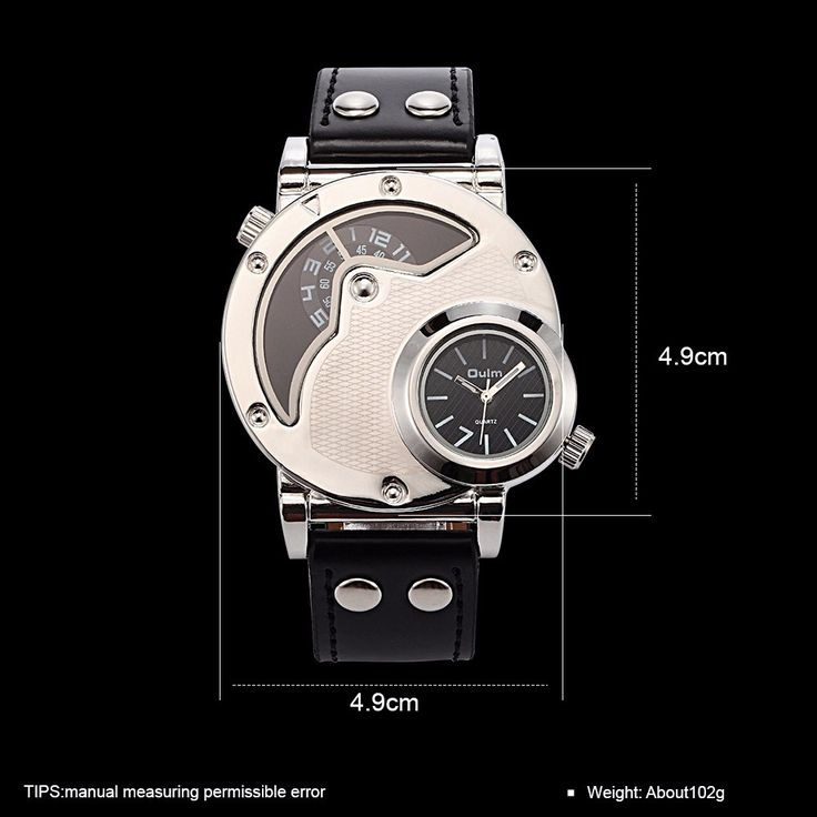 OULM Casual Watch Leather Alloy Two Movements Men Watch online - NewChic