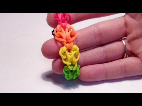 Браслет НЕЖНОСТЬ, Радужки Rainbow Loom - YouTube