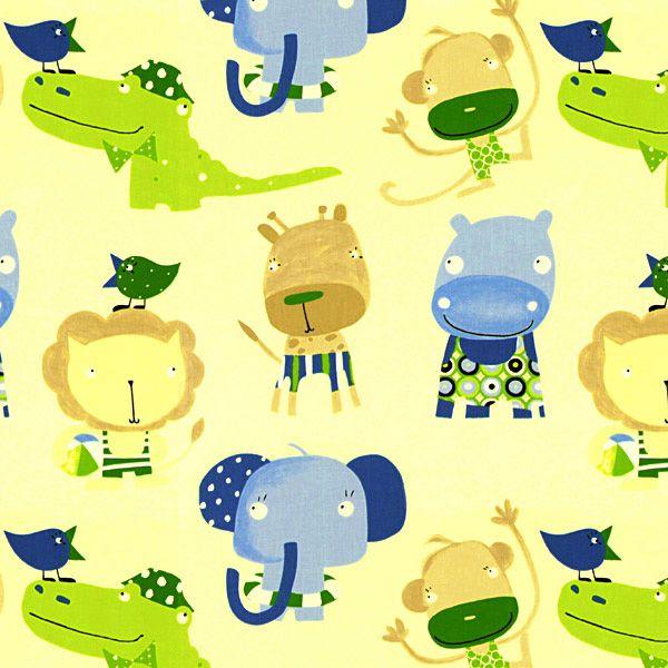 i znowu zoo, materiał ze słoniem, lwem, krokodylem i żyrafą - który 5-latek nie marzy o swoim prywatnym zoo? www.miniroom.pl