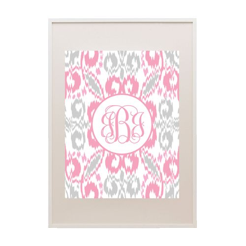 Free Ikat Printable Monogram - comes in 8 color combinations - just type in your initials and print!