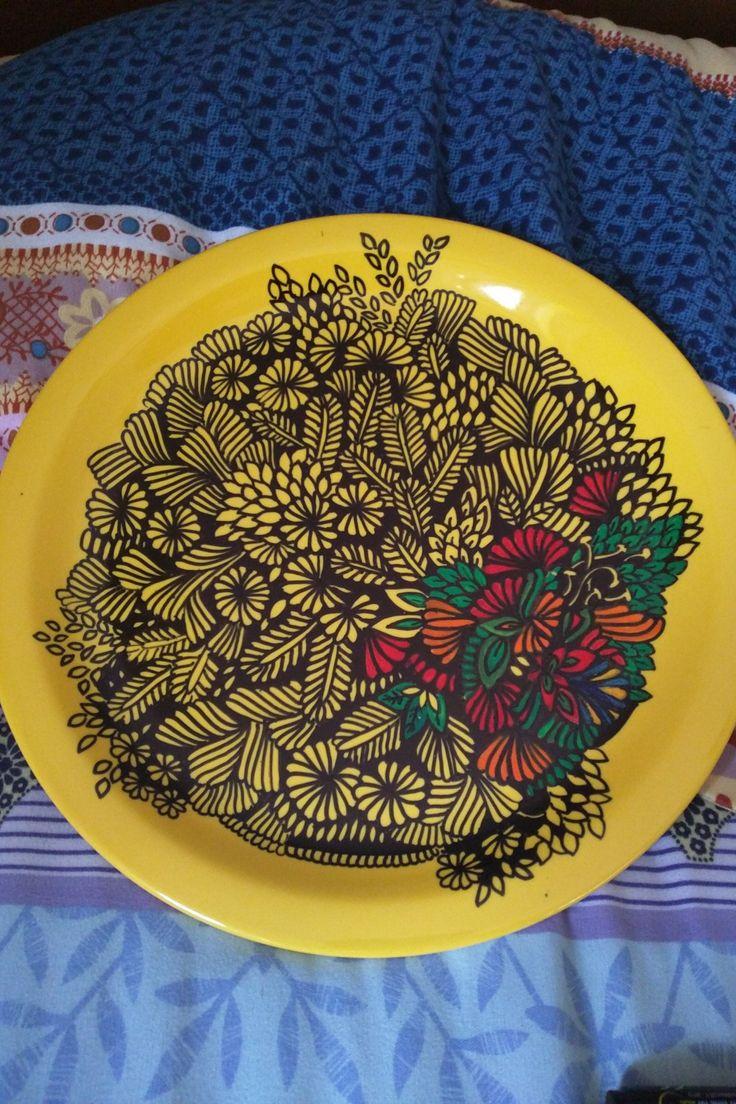 #handrawn #plate #doodles #sharpie #paintings #artwork #workinprogress