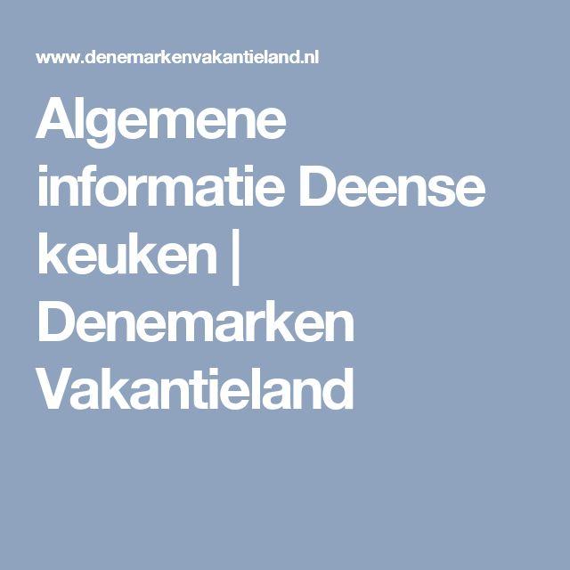 Algemene informatie Deense keuken | Denemarken Vakantieland