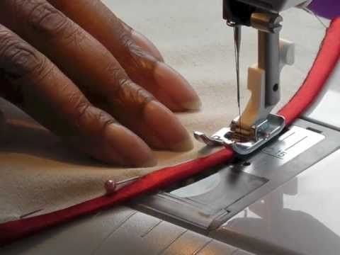 Sewing Bias Binding onto Curved Seams - YouTube