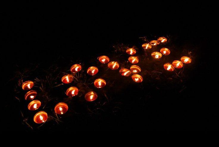 Романтика из свечей