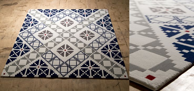 Puzzled Rug by Dare to Rug  Available dimensions: 1.7 x 1.7 m; 2.4 x 2.4 m Manufacturing technique: Hand Tufted Fiber content : 100% New Zealand wool Total height aprox.: 20 mm Backsizing : Cotton  #daretorug #handtufted #rug #interiordesign