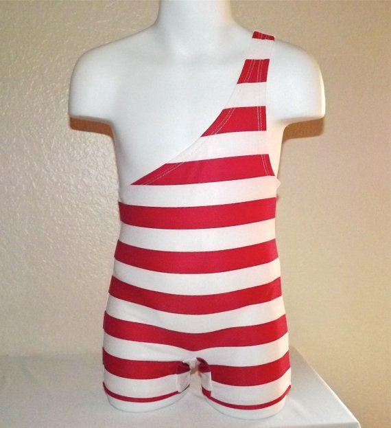 Toddler Boy Single Shoulder Strong Man Costume Horizontal Stripes on Etsy, $37.99