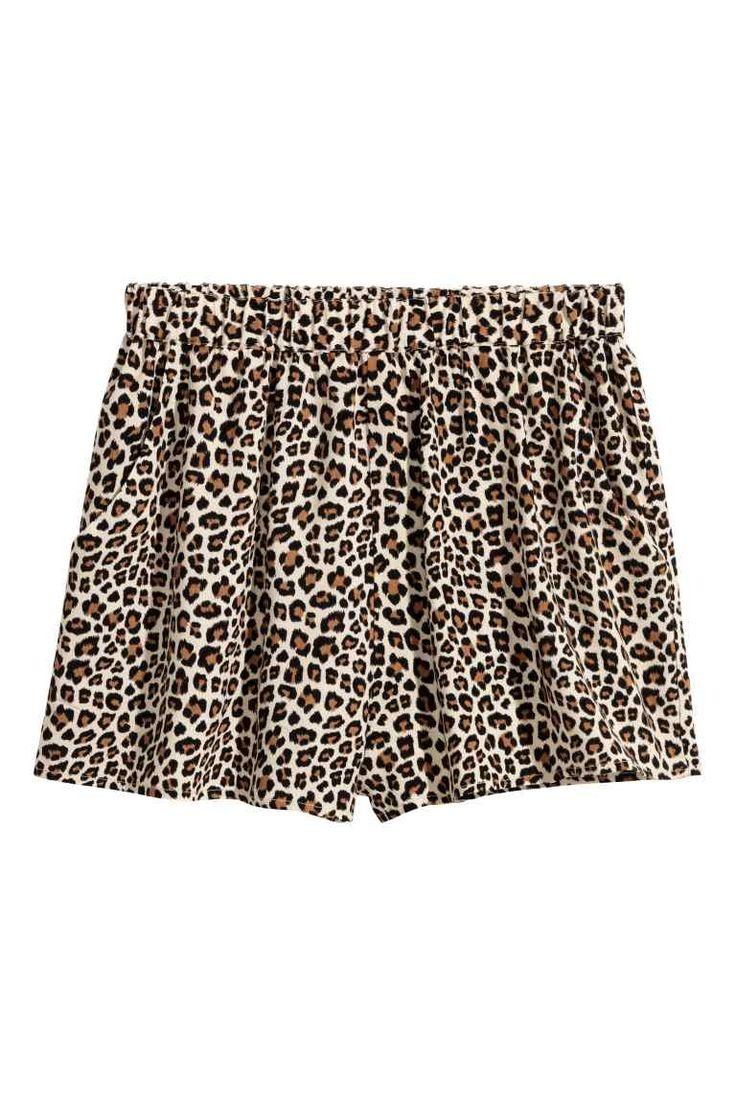 Pantaloni scurți cu motive - Imprimeu leopard - FEMEI | H&M RO