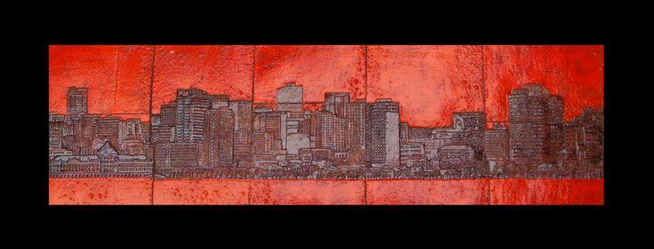 Baía de Luanda  / 167 x 62 cm  ceramic panel