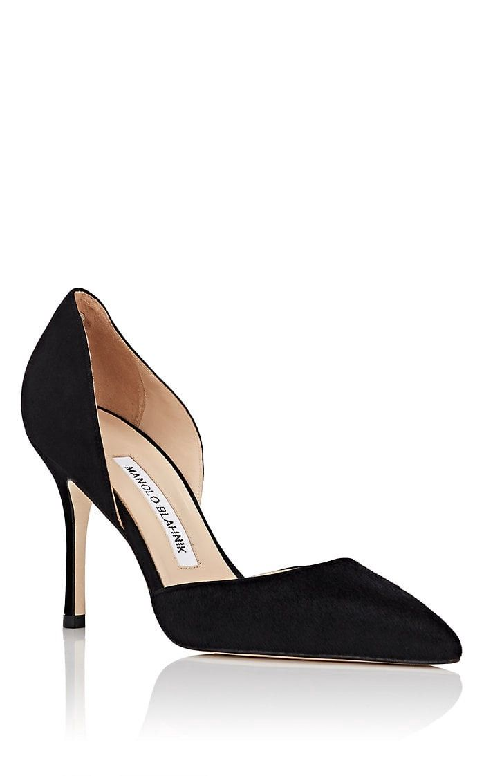 b1eb48f2c1bf6 Manolo Blahnik Tayler Calf Hair & Suede D'orsay Pumps - 6 | Products ...