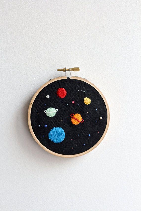 Space Embroidery hoop