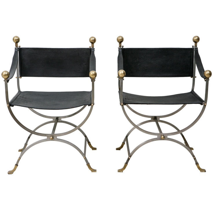 Pair Of Maison Jansen Side Chairs Side Chair Steel