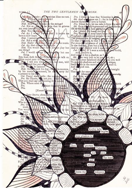 Found Poetry. Use any page from the Bible. Highlight only words that jump out at you... love it!