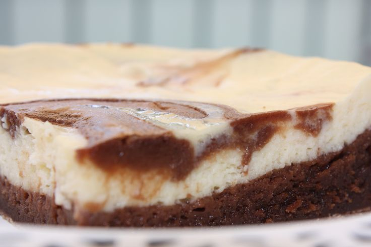 Bottom brownie cheesecake