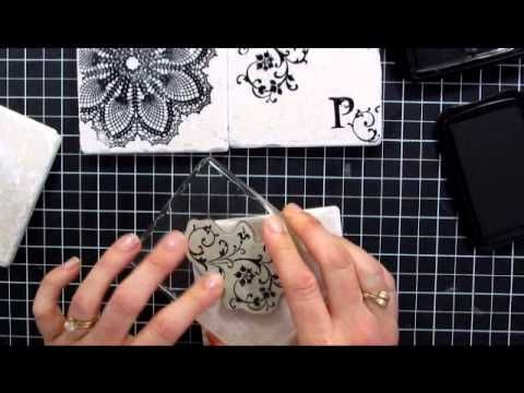 Stamped Tile Coasters - video- super popular project!  #giftstomake #stampinup #videotutorial