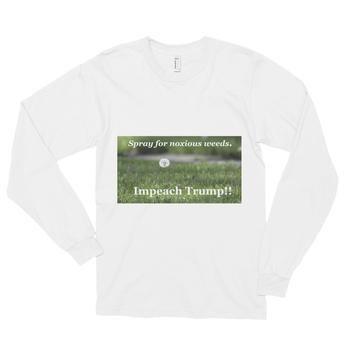Long sleeve t-shirt (unisex): Impeach Trump