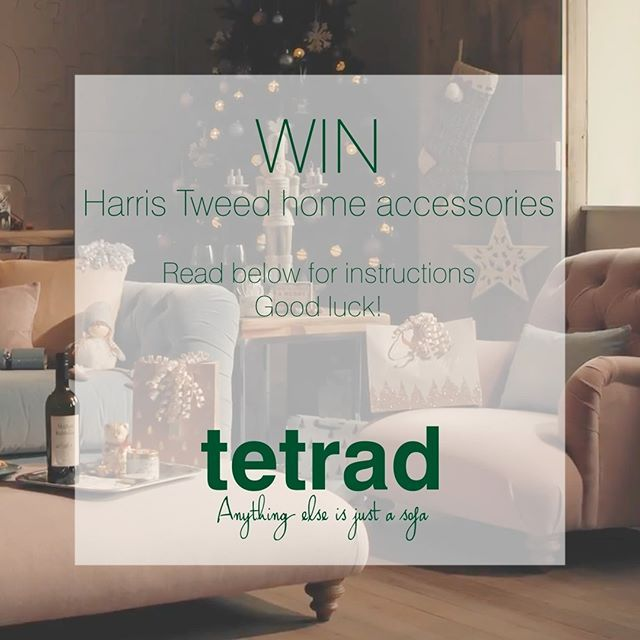 """COMPETITION: What does """"Christmas at our house"""" look like for you? The team here at Tetrad is excited to find out! We are giving away a pair of Harris Tweed scatter cushions and a Harris Tweed teddy bear worth £230! . For a chance to win follow these simple steps: . 1) Post a picture on Instagram which represents Christmas at your house. . 2) Use the hashtags #tetrad and #christmasatourhouse . The winning picture will be announced on our page on Monday 11th December. Good luck!"""