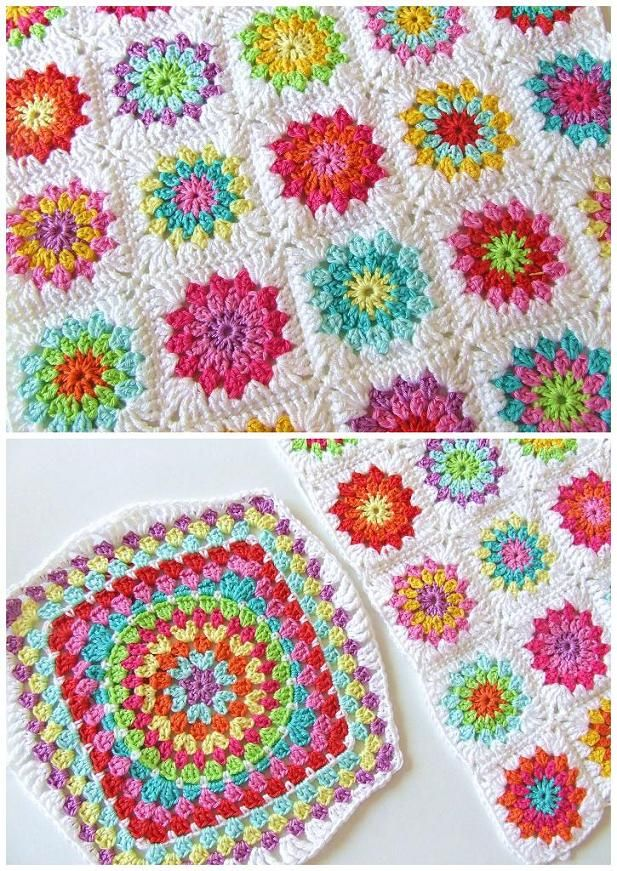 Crochet / Granny Squares / Cushion This is the afghan I'm making to use all my extra/leftover yarn!