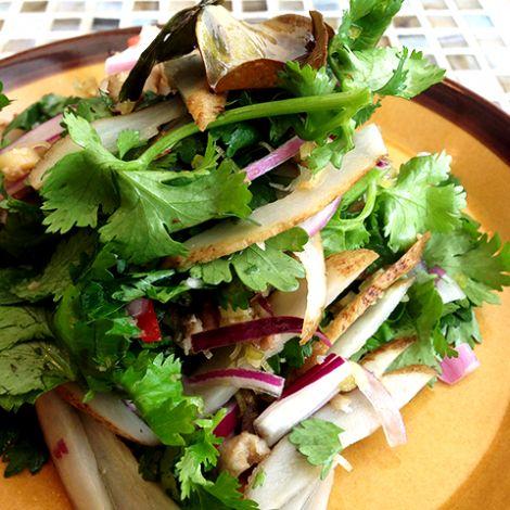 """Herb salad / coriander and burdock """"パクチーとごぼうのハーブサラダ"""""""