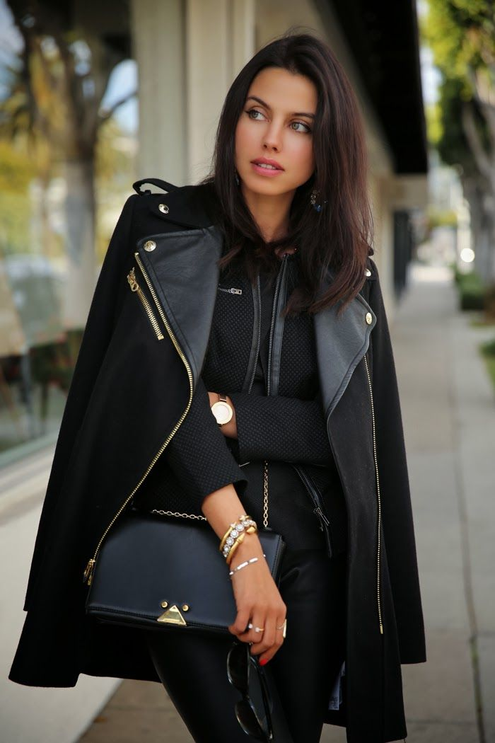Layered black with pops of blue, my employee and my customer would love this outfit for a day out shopping #fashion
