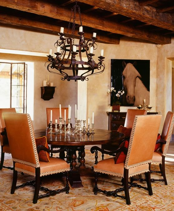 Achieve spanish style room by room beautiful dining for Dining room in spanish