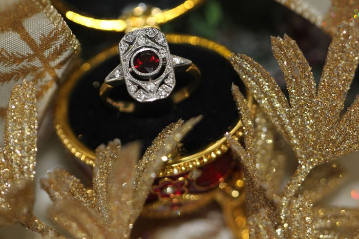 Wouldn't you be delighted to find this stunning antique garnet and diamond ring waiting for you on Christmas morning? Call into us in the Powerscourt Shopping Centre over the festive season to view our vintage rings and more!