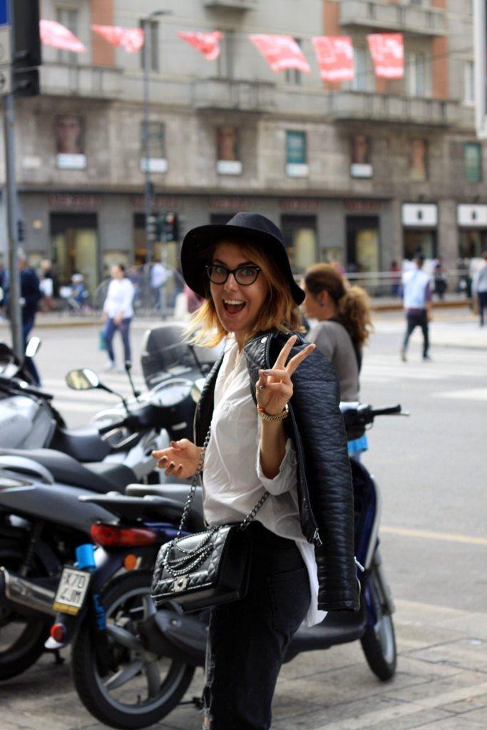 Streets of Milan during Milan Fashion Week SS16