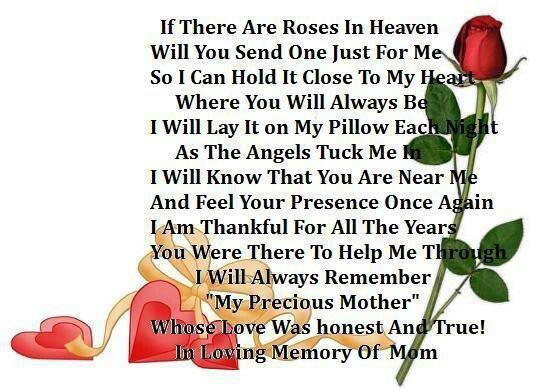 In Loving Memory Of Mom ♥