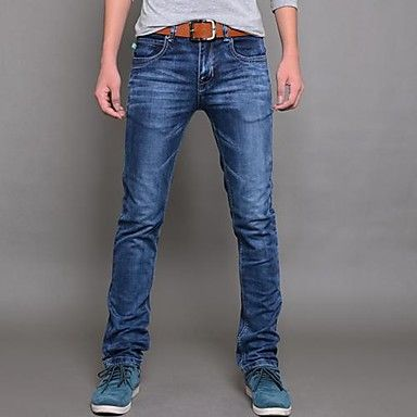 Men's Elastic force Slim Jeans Pencil Pants  – EUR € 16.76