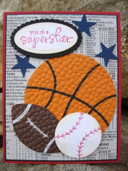 sports masculine birthday basketball baseball football