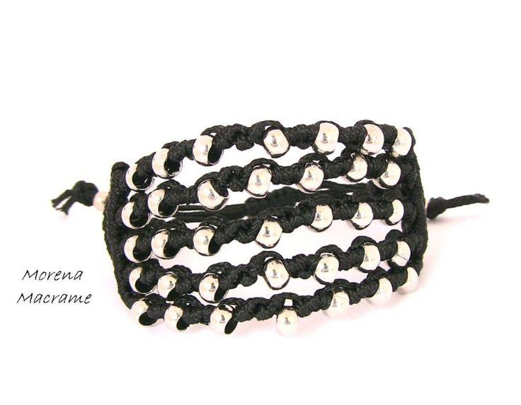 Copia di total metal black bracelet 1