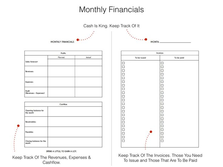 Rebel's Agenda Monthly Financials