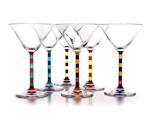 CAPRI MARTINI GLASSES | Capri Martini Set of Two Tone Stemmed Glasses for Fun, Classy Cosmos and Beautiful, Elegant Dinner Parties | UncommonGoods