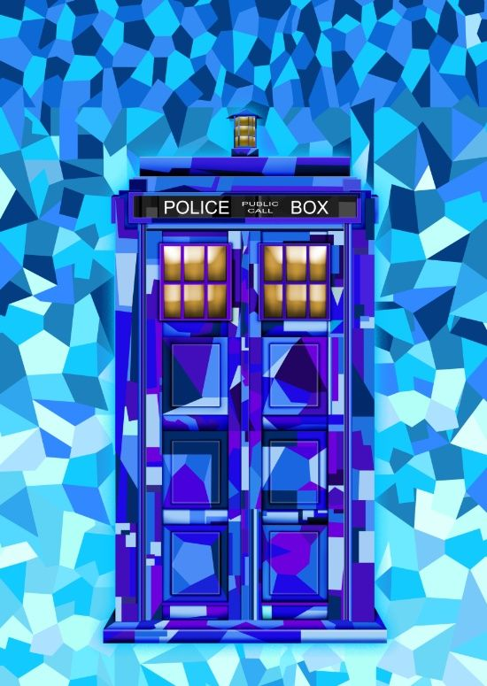 Phone booth Tardis doctor who cubic art iPhone 4 4s 5 5c 6, pillow case, mugs…