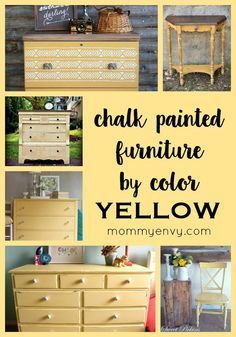 Chalk Painted Furniture by Color - YELLOW | Using yellow to paint furniture can be tricky. Check out these pieces that are just right! | www.mommyenvy.com