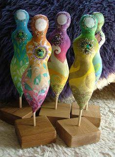 Earth Angels Art. Art and Illustrations by Amanda Clark: New herbal spirit dolls