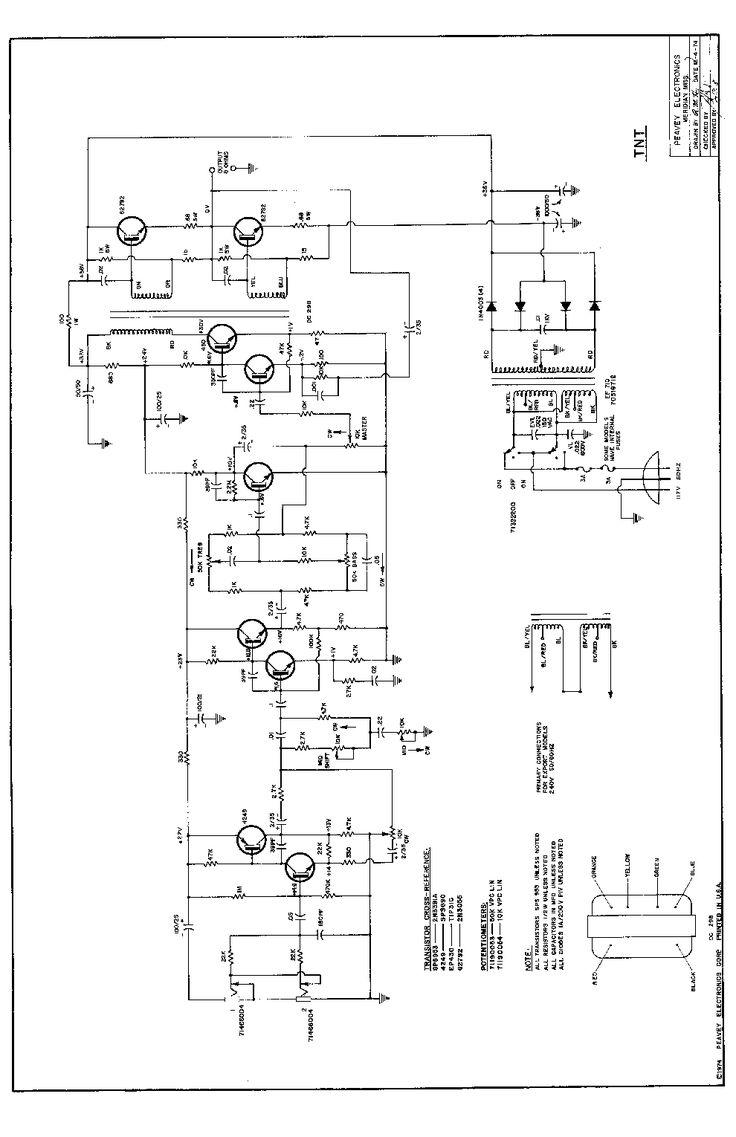 PEAVEY TNT 100 1974 Service Manual download, schematics