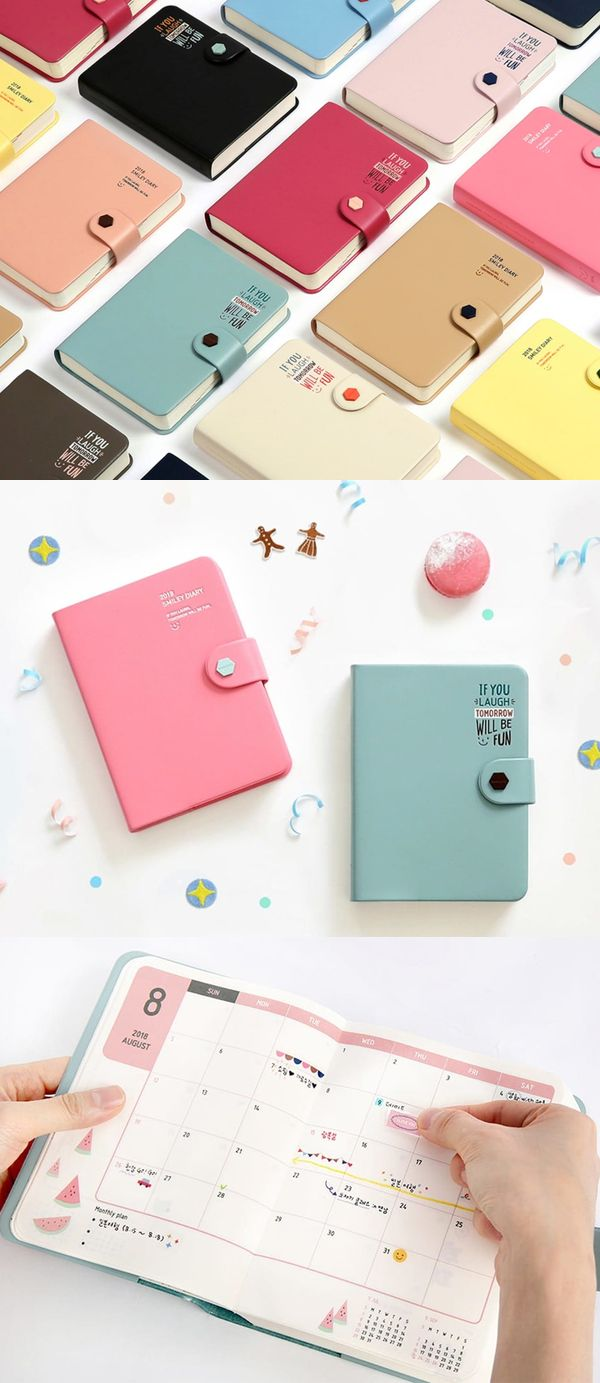 The 2018 Smiley Scheduler is a colorful scheduler that will have you smiling in no time! Adorable design and filled with great contents, it's the scheduler you wanted for 2018!