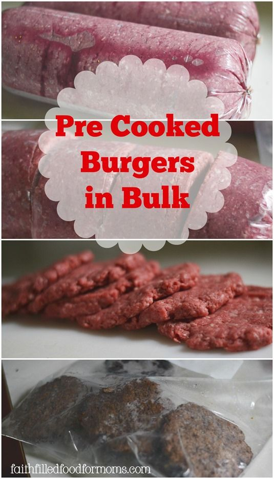 A super easy way to have meals ready in minutes! Also great for meal planning and freezer meals. Homemade Pre Cooked Burgers to Freeze
