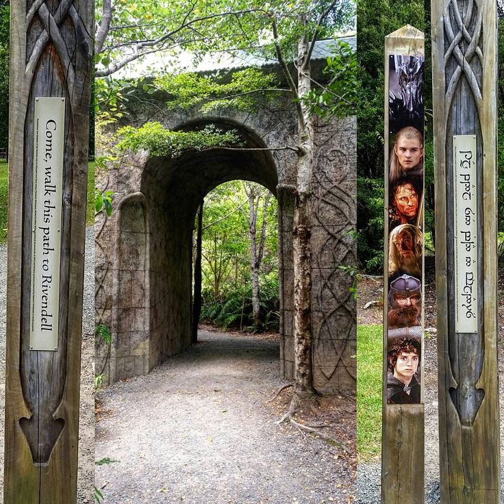 Rivendell - the post with the characters is how tall they are. As you can see Legolas is tall and gorgeous haha  #rivendell #lotr #newzealand #adventures #ilovelegolas #beautiful #northisland #nzmustdo #ilovethisplace #elves