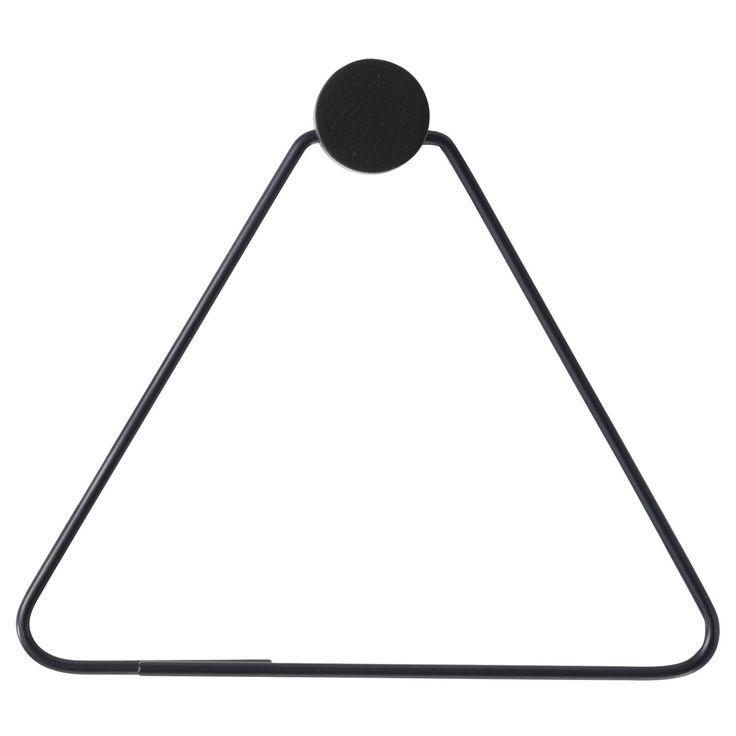 Black hängare, triangle i gruppen Inredningsdetaljer / Badrumsinredning / Övrig badrumsinredning hos RUM21.se (131021)