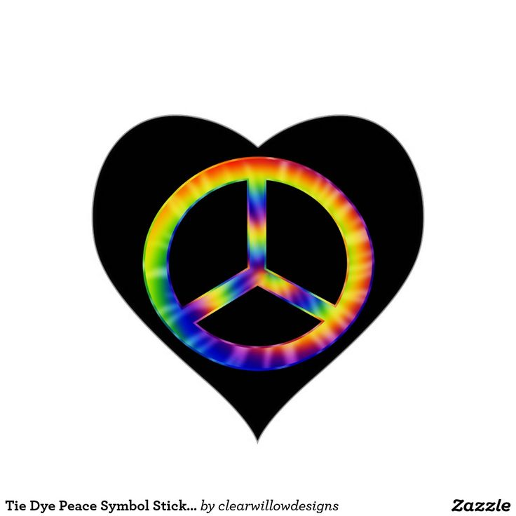 Tie Dye Peace Symbol Stickers