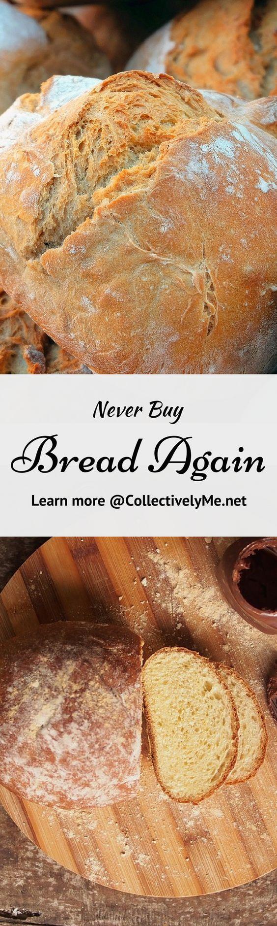 nice FREE 5 Ingredient Bread Recipe