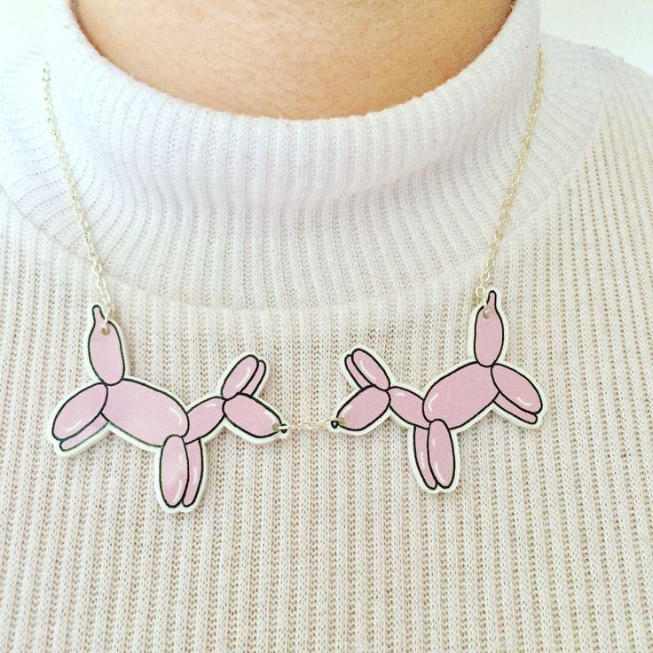 Balloon dog necklace £14