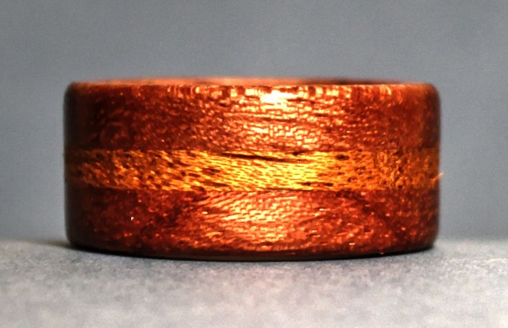 Bubings and Mahogany together make a great looking wooden ring. This is one of the examples of laminated rings that I talk about in my book. I teach the ring making process using the minimum amount of tools so anyone can make a ring for themselves or for a gift.