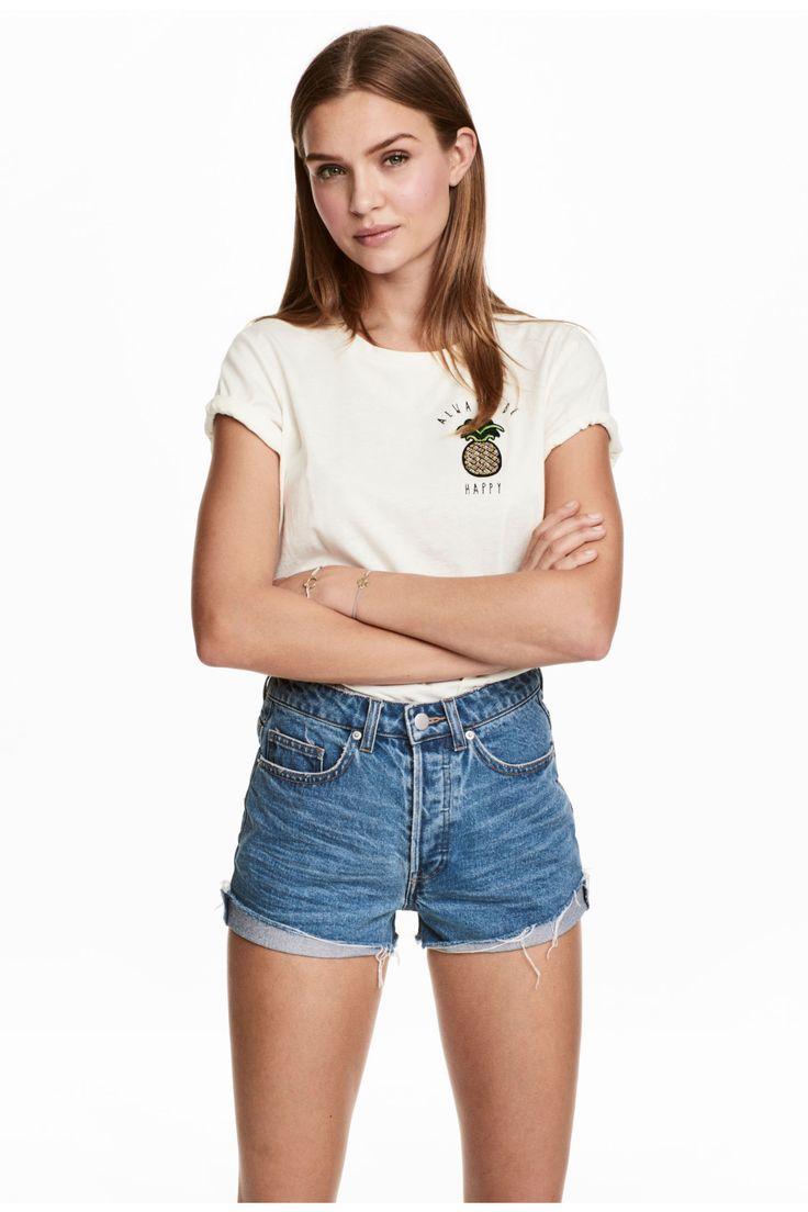 Short High Waist Shorts - Denim blue - Ladies | H&M GB