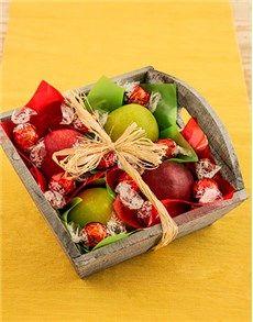 Fruit: Fruit Basket of Apples and Lindt!
